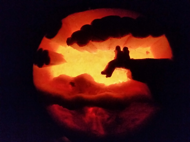 That awkward moment when you have to explain to your family and friends that your pumpkin is McAfee Knob.